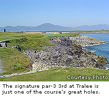 The signature par-3 3rd at Tralee