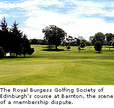 The Royal Burgess Golfing Society of Edinburgh
